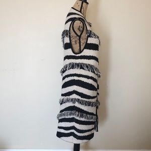 Chico's long sweater vest black and white